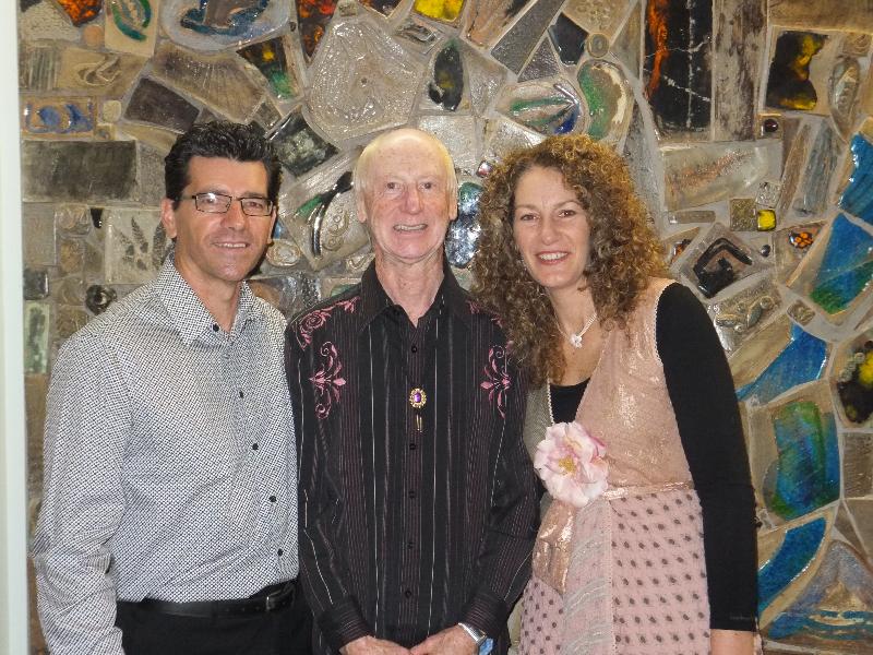 Annette & Kim with Peter Horan Barham Festival 2012