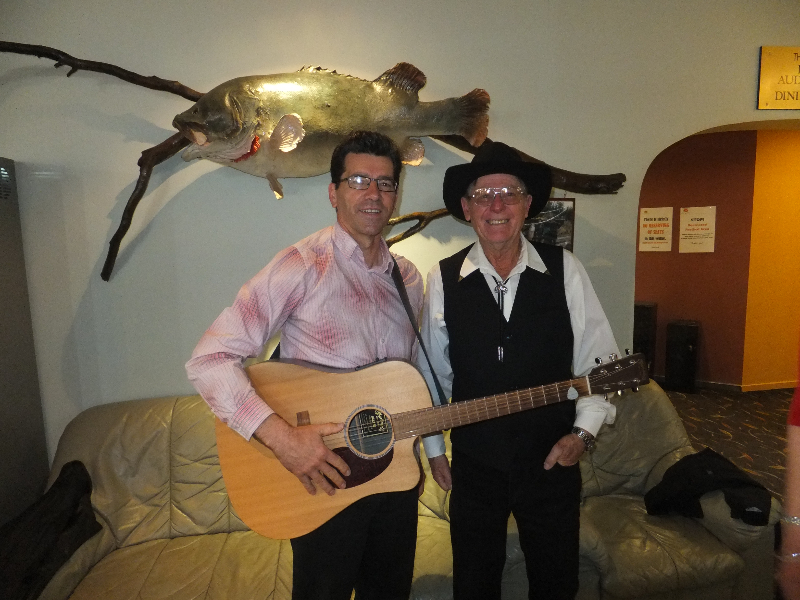 Barham Festival- Kim & David with His Marin Guitar.