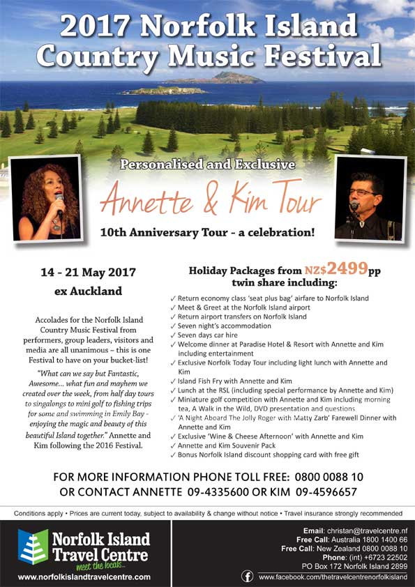 Norfolk Island Country Music Festival Poster 2017